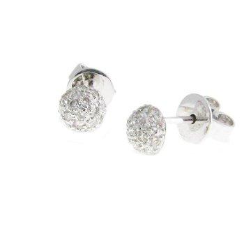 Sethi Couture Disco Diamond Pavé Ball Stud Earrings