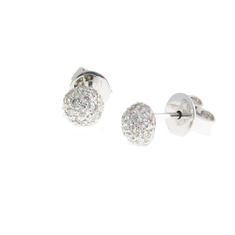 Sethi Couture Sethi Couture Disco Diamond Pavé Ball Stud Earrings