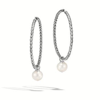 Pearl Drop Transformable Hoop Earring