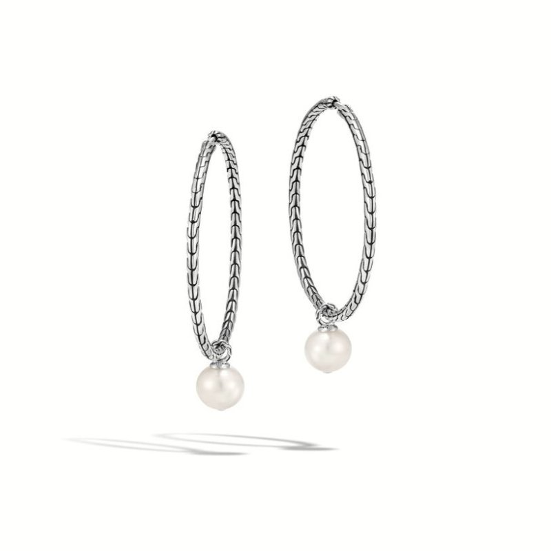 JOHN HARDY Pearl Drop Transformable Hoop Earring