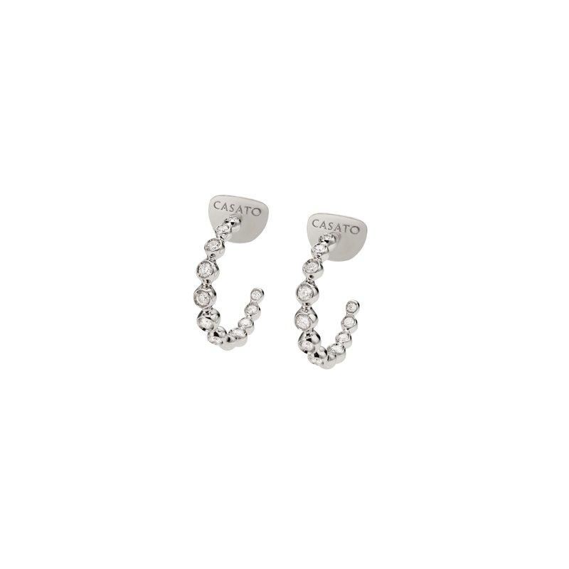 Casato CASATO DIAMOND HOOP EARRINGS