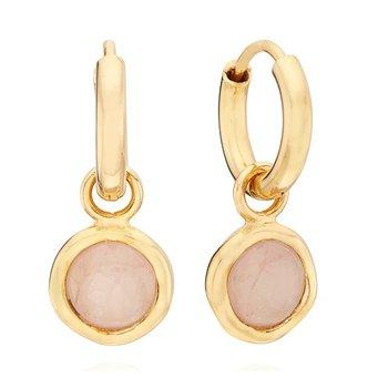 Morganite Charm Earrings