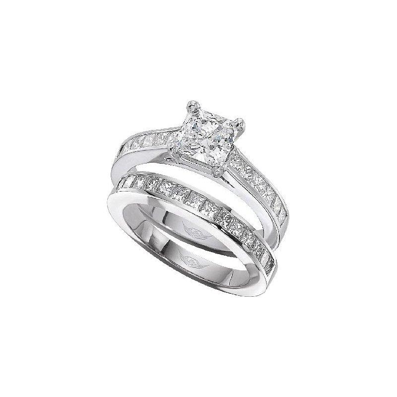 MAZZARESE Bridal PRINCESS DIAMOND ENGAGEMENT RING