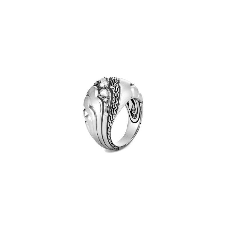JOHN HARDY Lahar Dome Ring with Diamonds