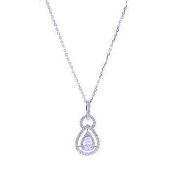 WHITE GOLD PEAR DIAMOND NECKLACE