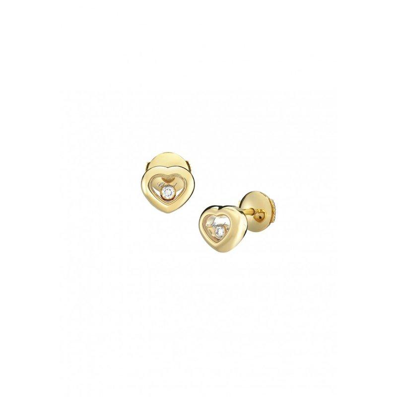 Chopard CHOPARD 18K Yellow Gold Heart Happy Diamonds Earrings
