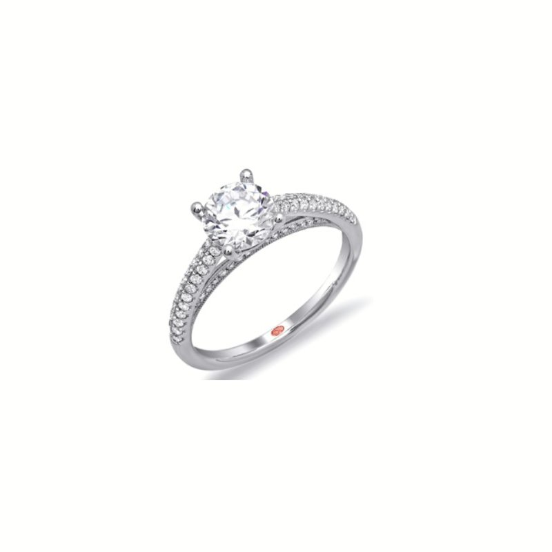 Mazzarese Couture WHITE GOLD SOLITAIRE ENGAGEMENT RING