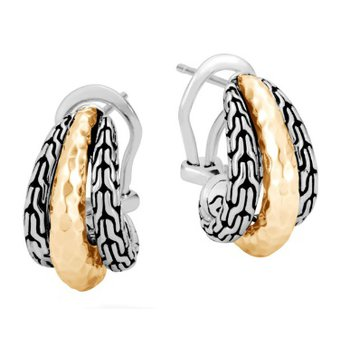 Classic Chain Hammered Buddha Belly Earring