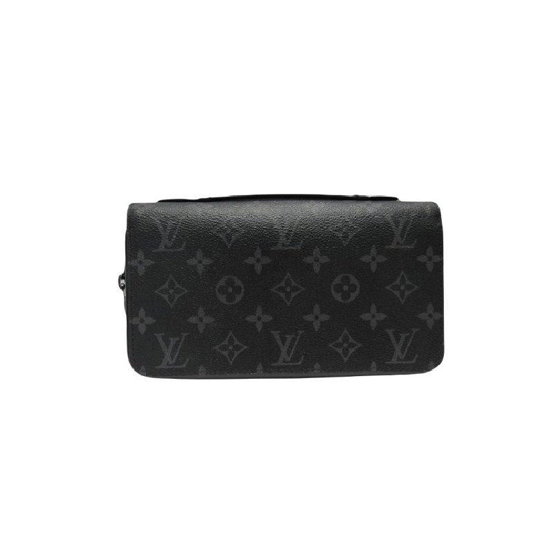 Pre-Owned Luxury Handbags LOUIS VUITTON Zippy Wallet Monogram Eclipse Canvas XL