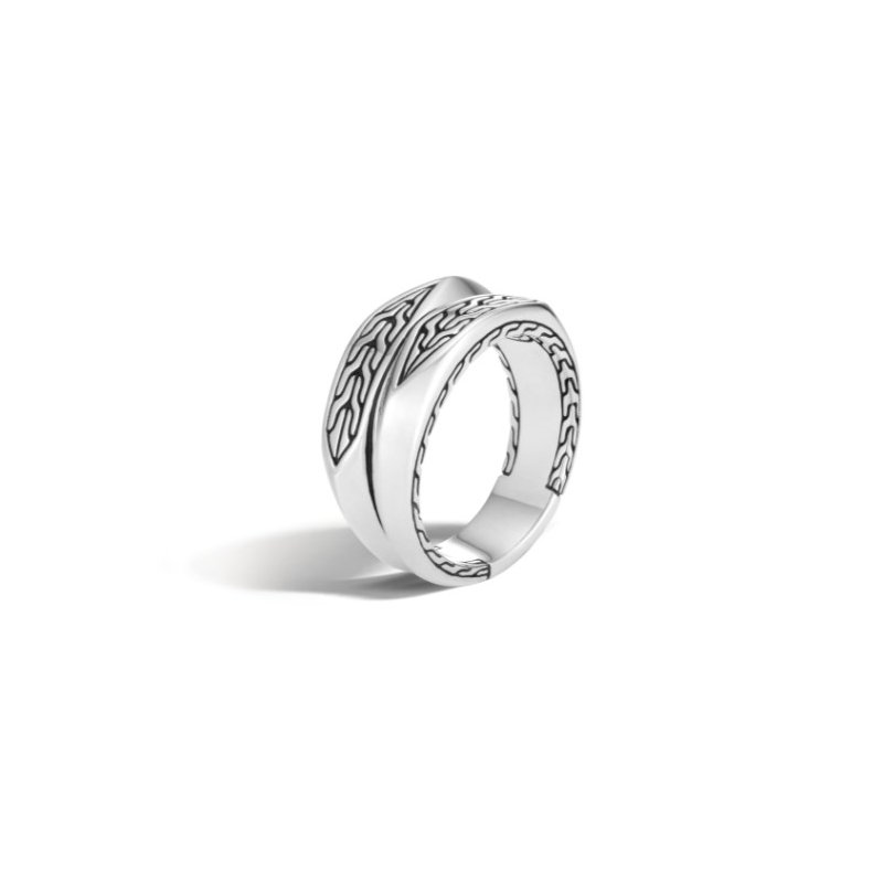 JOHN HARDY Classic Chain Motif Stacked Ring