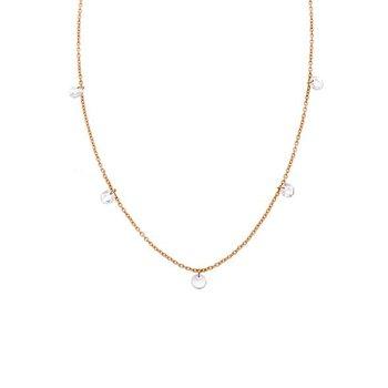 Sethi Couture Cien 5 Stone Rose Cut Diamond Necklace