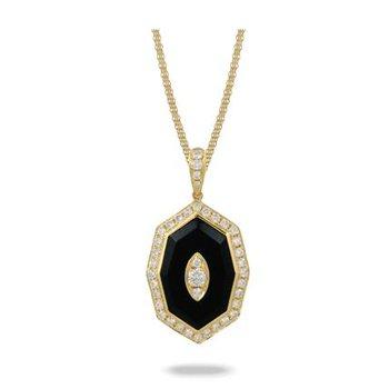 BLACK ONYX AND DIAMOND PENDANT