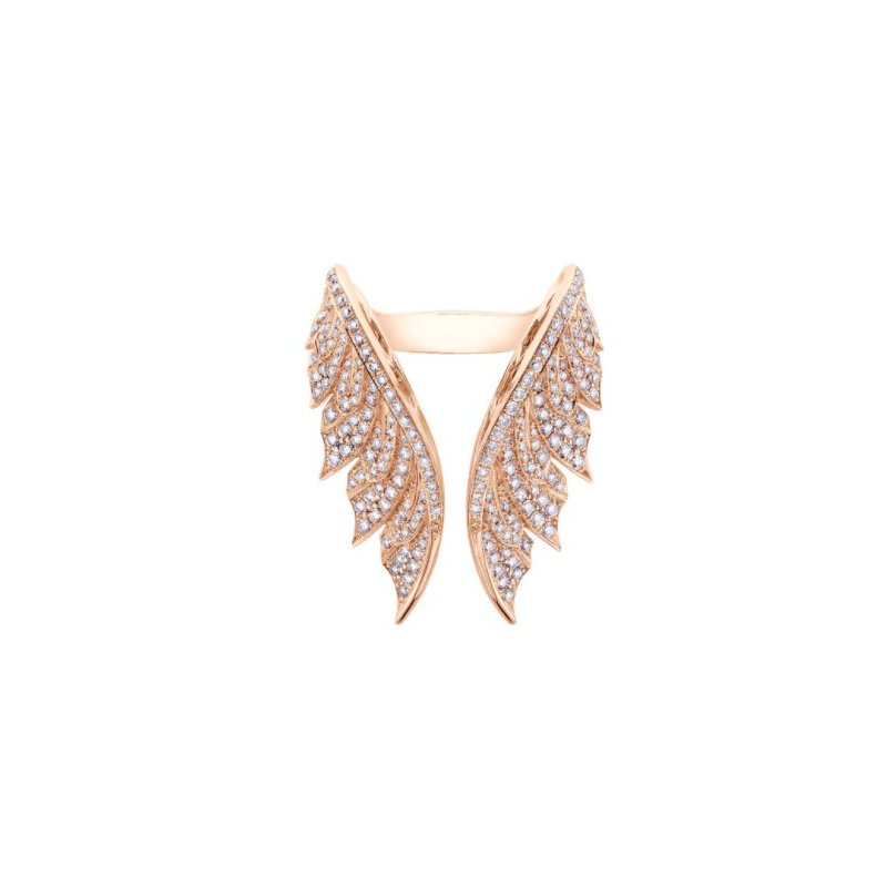 Stephen Webster STEPHEN WEBSTER MAGNIPHEASANT PAVE OPEN FEATHER RING