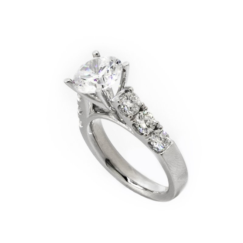 Mazzarese Couture DIAMOND SOLITAIRE ENGAGEMENT RING