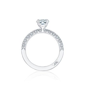 TACORI SOLITAIRE AND PAVE ENGAGEMENT RING