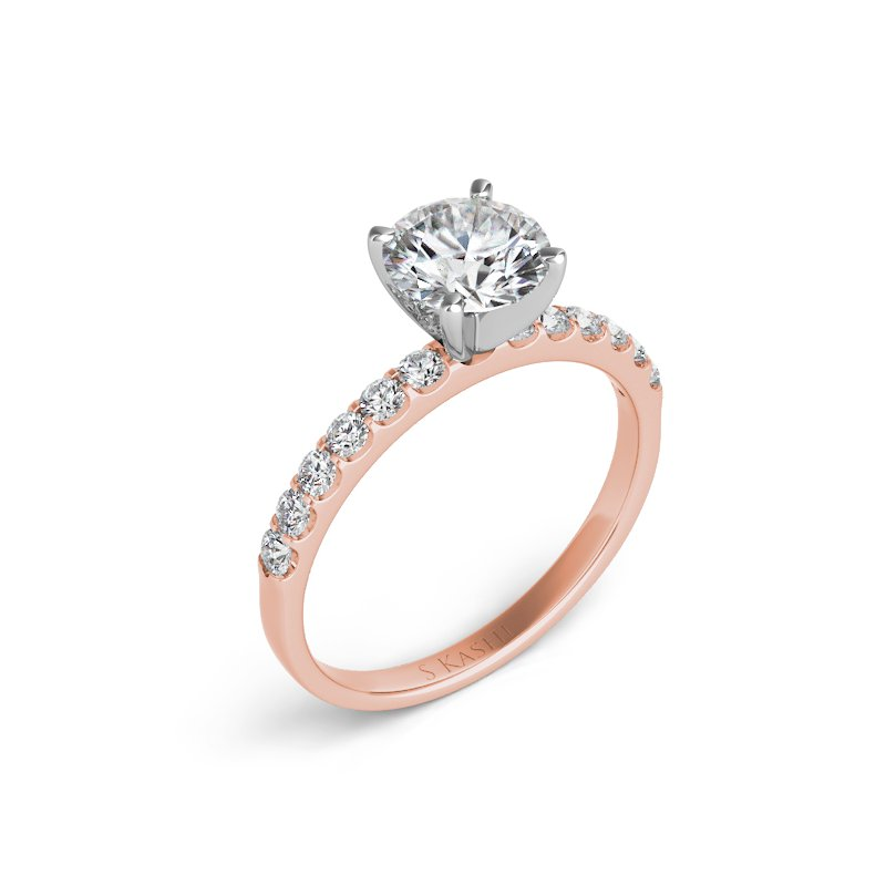 Mazzarese Couture ROSE GOLD SOLITAIRE ENGAGEMENT RING