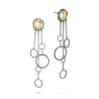 Classic Chain Hammered Chandelier Earring