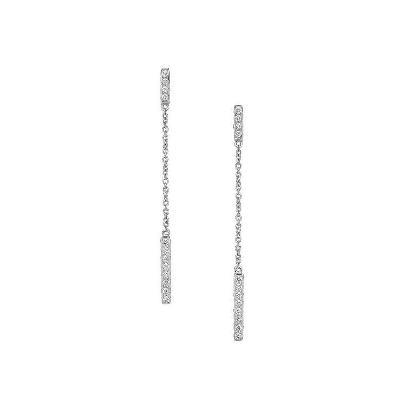 Sethi Couture Sethi Couture Barrel Long Diamond Earrings