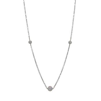 A.LINK DIAMOND PAVE BALL NECKLACE