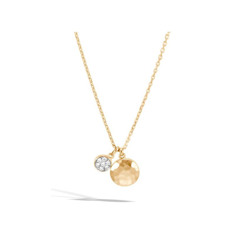 JOHN HARDY Hammered Pendant Necklace with Diamonds
