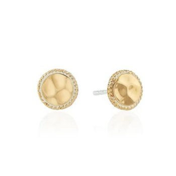ANNA BECK HAMMERED STUD EARRINGS - GOLD