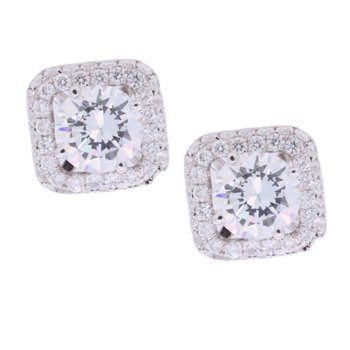 DIAMOND HALO EARRING JACKETS