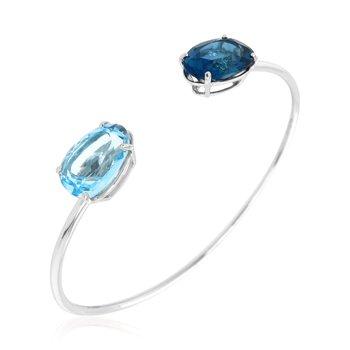 Blue Topaz Cuff
