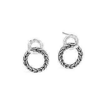 Classic Chain Interlinking Stud Earring