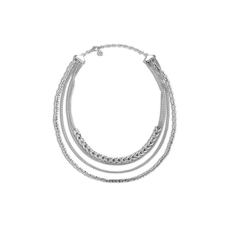 JOHN HARDY Asli Classic Chain Link Multi Row Necklace
