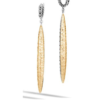 Classic Chain Hammered Spear Drop Earring