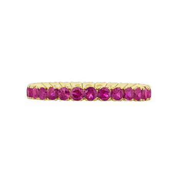 YELLOW GOLD RUBY ETERNITY RING