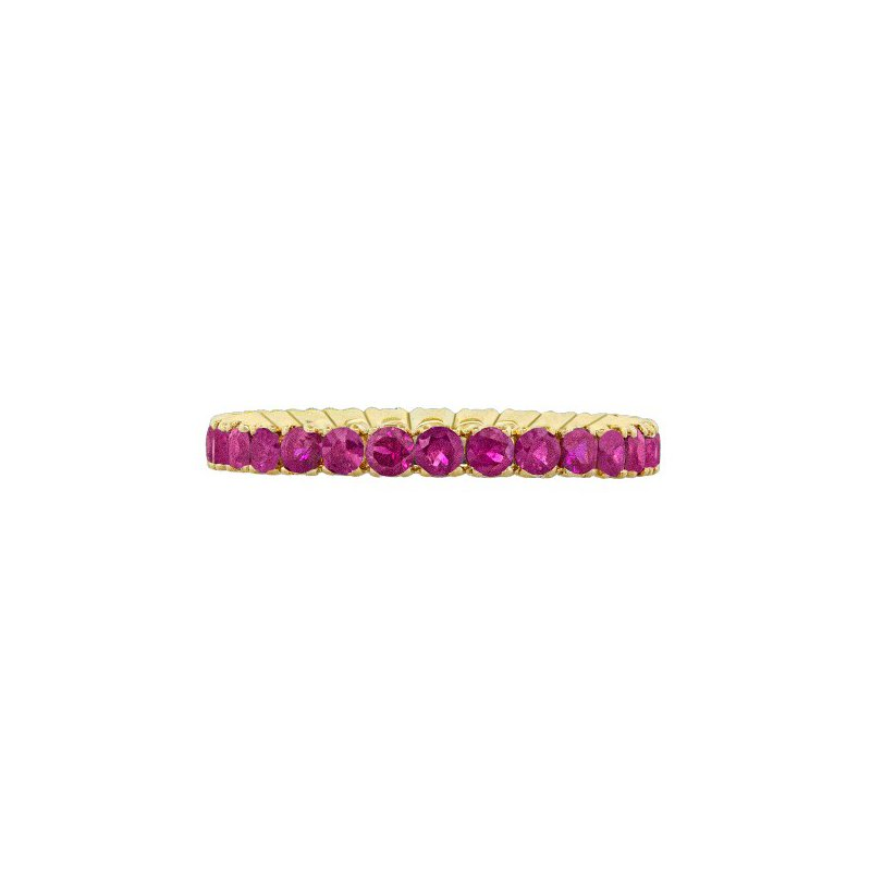 Spark Creations YELLOW GOLD RUBY ETERNITY RING