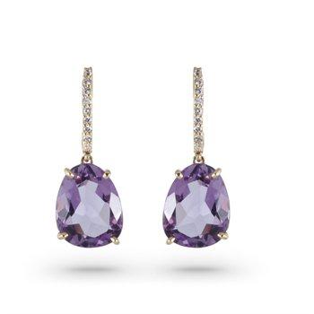 Vianna B.R.A.S.I.L. Diamond and Amethyst Drop Earrings