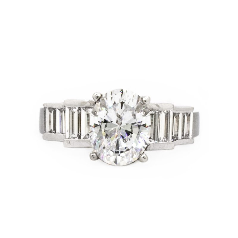 Mazzarese Couture OVAL DIAMOND ENGAGEMENT RING