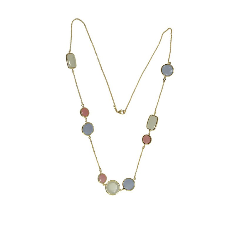 Vianna Brazil Bezel Set Colored Stone Necklace