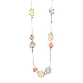 Vianna B.R.A.S.I.L. Malva Quartz, Chalcedony, Pearlized Agate Necklace