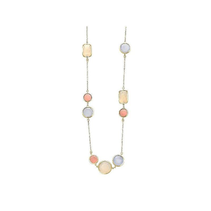 Vianna Vianna B.R.A.S.I.L. Malva Quartz, Chalcedony, Pearlized Agate Necklace