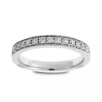 DIAMOND ETERNITY BAND WITH MILGRAIN