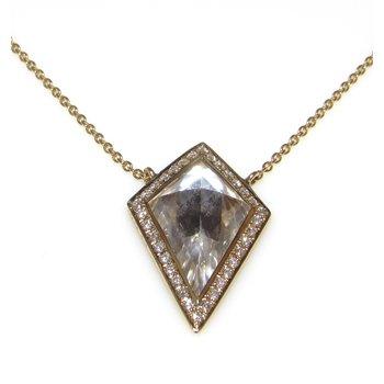 White Quartz Diamond Necklace