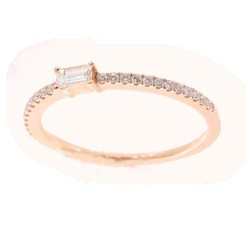 ROSE GOLD DIAMOND STACK RING