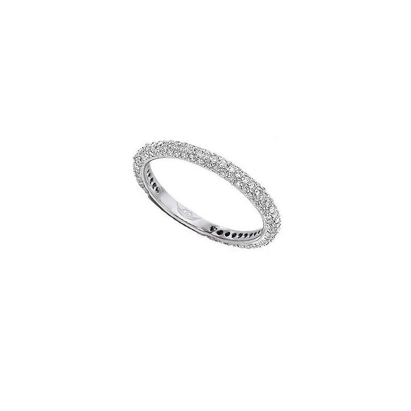 MAZZARESE Bridal PAVE DIAMOND WEDDING BAND