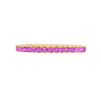 ROSE GOLD PINK SAPPHIRE BAND