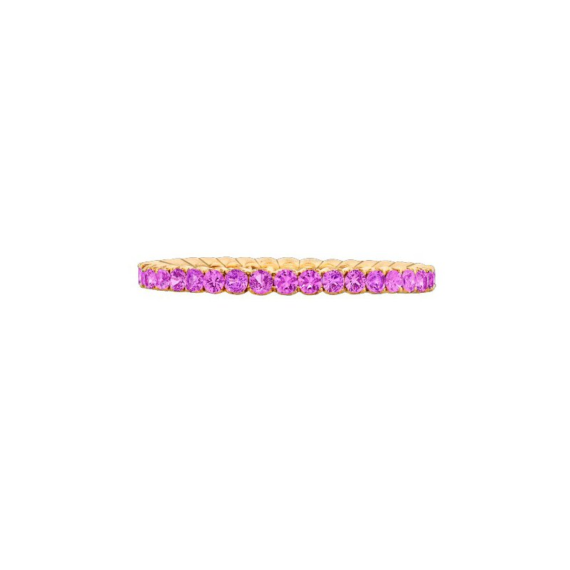 Spark Creations ROSE GOLD PINK SAPPHIRE BAND