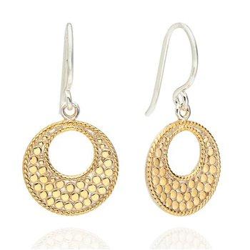 ANNA BECK CLASSIC OPEN CIRCLE EARRINGS - GOLD