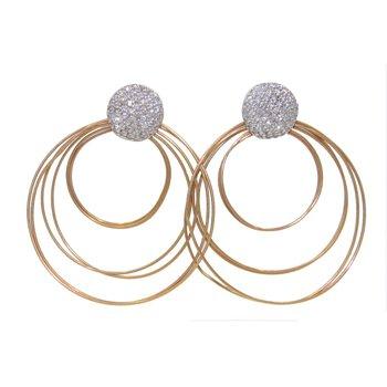 BERGIO GOLDEN CIRCLE EARRINGS