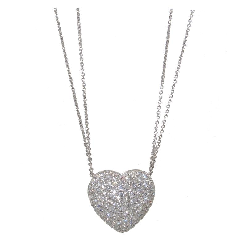 Bergio BERGIO DIAMOND HEART PENDANT