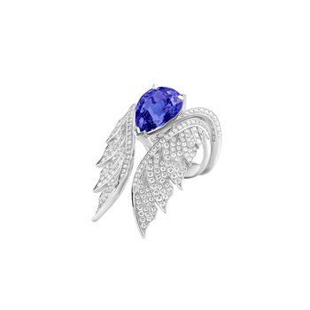 MAGNIPHEASANT PAVÉ COCKTAIL RING