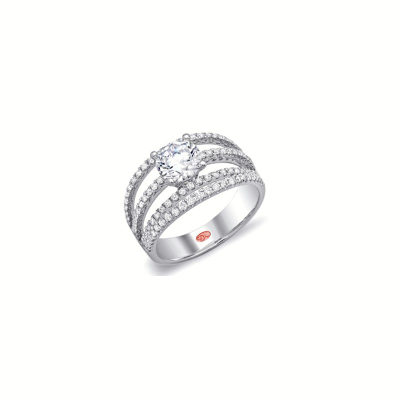 Mazzarese Couture WHITE GOLD DIAMOND ENGAGEMENT RING