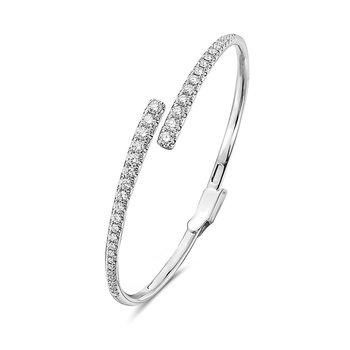 White Gold Diamond Hinged Bangle