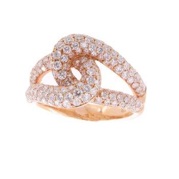 KNOT DIAMOND FASHION RING